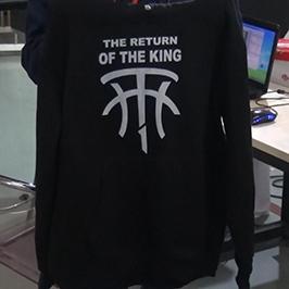 Черна пуловерна печатна проба от A2 тениска WER-D4880T