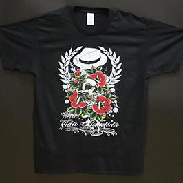 Черна тениска от А1 цифров текстилен принтер WER-EP6090T